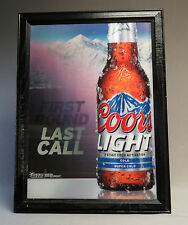COORS LIGHT FIRST ROUND LAST CALL HOLOGRAM SIGN BEER BAR Lenticular wall hang
