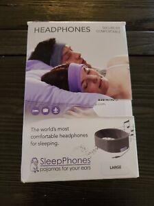 AcousticSheep SleepPhones Classic | Corded Headphones for Sleep Travel Sz Large