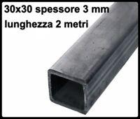 barra quadrata in ferro liscio profilo tubolare 30x30x3 metri 2