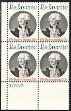 US #1716 13¢ Lafayette Plate Block MNH