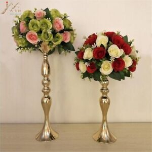"50cm/20"" Metal Candlestick Flower Vase Table Flower Rack Road Lead Wedding Decor"