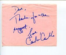 Carolee Carmello Mamma Mia! Addams Family Broadway Tony Nominee Signed Autograph