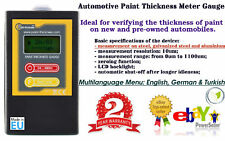 DIGITAL PAINT COATING THICKNESS GAUGE 2016 MODEL NEW CE