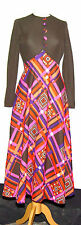 AMAZING VINTAGE TINA WARREN CRIMPLENE PSYCHEDELIC MAXI DRESS 1960's 10