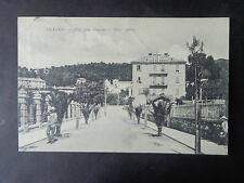 CARTOLINA SAVONA ALASSIO VIA ALLA STAZIONE VIAGGIATA 1907 RARA SUBALPINA