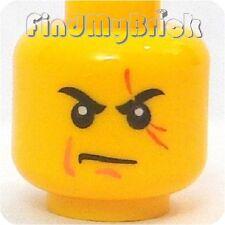 H092B Lego Ninjago Ninja Kai Minifigure Head w/ Red Scar Pattern 70500 9558 NEW