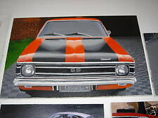 CHEVROLET OPALA SS OIL PAINTING ON CANVAS OPEL REKORD