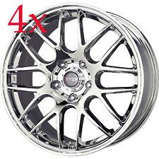 Drag Wheels DR-37 18x8 5x120 +40 cb72.56 Chrome BMW Rims For 325 328 335 E90 M3