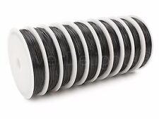 Black Crystal String - Beading Thread - 0.8mm - 110 Yards - Elastic Stretch Cord