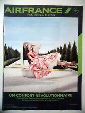 PUBLICITE-ADVERTISING :  AIR FRANCE Confort révolutionnaire  2014 Avions