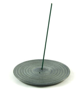 Incense Stick Holder -  Natural Grey STONE - Izumo Joss Sticks Burner Ashcatcher