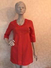 Boden Women Empire Linen Red Short dress/ Size: UK 8