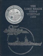☆* USS LONG BEACH CGN-9 WESTPAC DEPLOYMENT CRUISE BOOK YEAR LOG 1986  - NAVY *☆