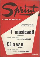 I MUSICANTI   Nini Rosso - B. Pisano -- CLOWN  N. Rosso - F. Pisano # SPARTITO