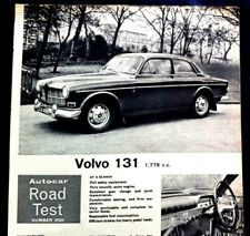 VOLVO 131 - 1778cc -1965 - Road Test removed from AUTOCAR