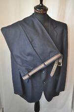 """Vintage 1970's blue pin stripe 2 piece suit size medium chest 40"""" W 36"""" England"""