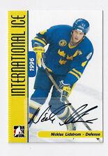 2006-07 ITG INTERNATIONAL ICE NICKLAS LIDSTROM #A-NL AUTOGRAPH SP! SWEDEN!