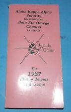 Alpha Kappa Alpha Sorority Beta Eta Omega Ebony Jewels & Gems 1987 Book Ohio