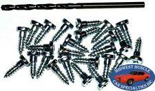 Ford Window Trim Clip Molding Pin Stud Screw In Stud Studs & Drill Bit 25pcs