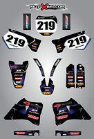 Yamaha YZ 125 / 250 - 1996 - 2001 Full custom graphics kit BARBED style stickers