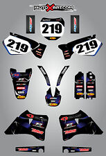 Yamaha YZ 125 / 250 - 1996 - 2001 Full custom graphics kit BARBED style stickers