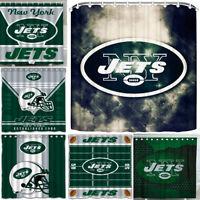 "New York Jets 72"" x72"" Waterproof Fabric Shower Curtain Bathroom Toilet Decor"