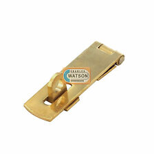 1 x 50mm SOLID BRASS HASP & STAPLE Small/Mini Door Cupboard/Cabinet Strap Lock