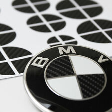 70x BMW Emblem Aufkleber - 3D Carbon - Felgen Logo Tuning 1 2 3 4 5 6 M X