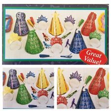 Jewel Colored New Years Party Kit for 20 PEOPLE Hats,Tiaras, Noise Makers, Leis