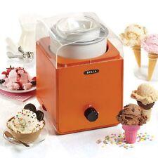 BELLA 1.5QT Ice Cream Maker- Orange color.