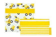 Sachi Reusable Sandwich/ Snack Lunch Pockets Set of 2 - Boys Toys - Yellow
