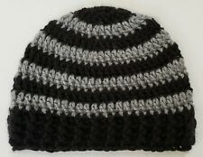 SALE Beanie Cap Hat Unisex Baby 6 - 9 Months 1 EACH Crocheted Black Gray