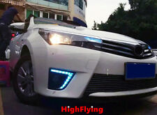 2PCS/SET CAR DRL DAYTIME RUNNING LIGHTS FOR TOYOTA COROLLA 2014 2015 2016