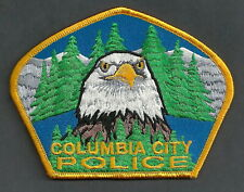 COLUMBIA CITY OREGON POLICE SHOULDER PATCH