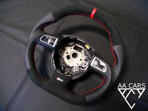Steering Wheel AUDI A4 B7 S4 RS4 A4 B8 S6 Flat Bottom THICK Alcantara