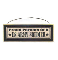 Proud Parents of a US Army Soldier Sign | Military Gifts | Army Gifts | Plaques