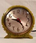 Rare 1930s Art Deco Sessions Green Catalin Electric Clock- Nice!