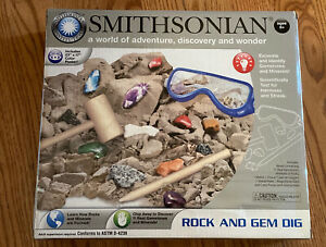 Smithsonian Earth Science Rock And Gem Dig Ages 8+ New! Free Shipping!