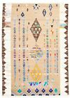 """Vintage Hand-Knotted Carpet 8'10"""" x 12'4"""" Traditional Geometric Wool Area Rug"""