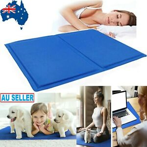Pet Cooling Mat Gel Dog Cat Bed Non-Toxic Cool Dog Summer Pad 5 Sizes AU stock