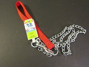 (New) Top Paw Extra Heavy Red Chain Dog Leash For Training 3.0 x 4 ft
