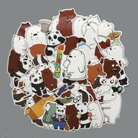 42Pcs We Bare Bears Stickers Pack - Vinyl Decals - Pins - Poster