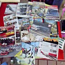 Ancien Gros lot de catalogue brochure notice lego faller train märklin jouef ...
