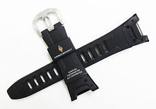 Brand New Casio PAW1300 PRW1300 Mens Black Resin Rubber 24mm Sport Watch Band