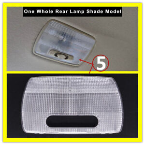 For Honda Jazz 2003-2014 Interior Rear Row Roof Reading Light Cover Trim 1pcs