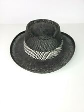 Kangol Straw Beach Black Summer Hat one size made in the USA breathable