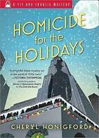 Homicide for the Holidays (VIV and Charlie Mystery) by Honigford, Cheryl, NEW Bo