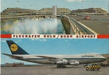 Postcard Germany North Rhine-Westphalia Flughafen Koln Bonn Airport Lufthansa