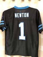 NFL Team Apparel Carolina Panthers Cam Newton Youth Jersey Size Large 14-16