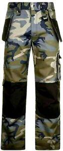 DUNLOP On Site Cargo Trousers Men's Camo Workwear Cordura Pants Size 34W 32L New